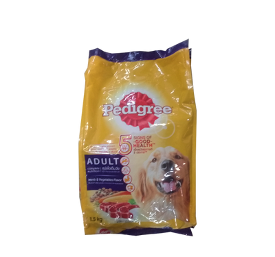 PEDIGREE ADULT BEEF AND VEGETABLES FLAVOUR 1.5KG