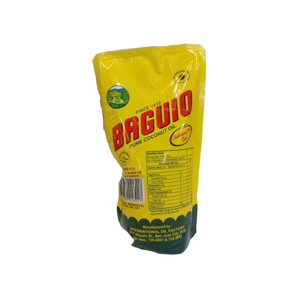 BAGUIO COOKING OIL POUCH 1LITER