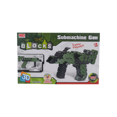3D BLOCKS SUBMACHINE GUN SET GREEN