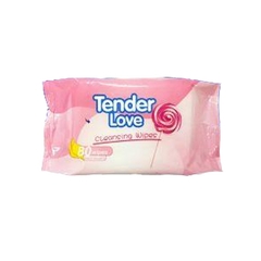 TENDER LOVE SWEET DELIGHT CLEANSING WIPES  80'S