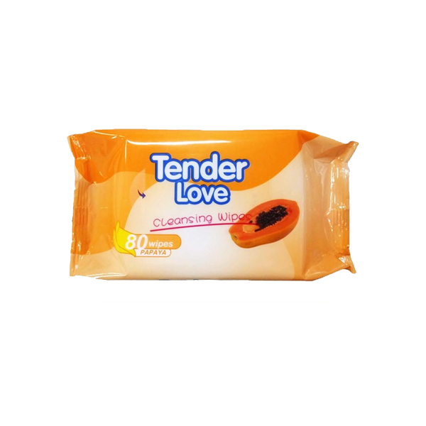 TENDER LOVE PAPAYA CLEANSING WIPES 80S