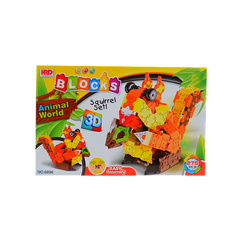 3D BLOCKS SQUIRREL SET BROWN
