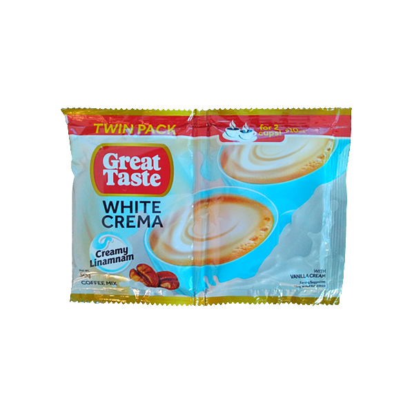 GREAT TASTE WHITE CREMA TWIN PACK 50GX10S