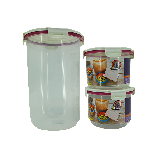 3PCS ROUND FOOD KEEPER WHITE