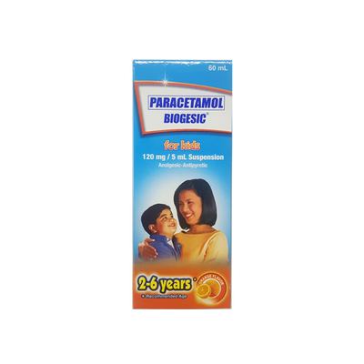 BIOGESIC SUSPENSION ORANGE 120MG 60ML