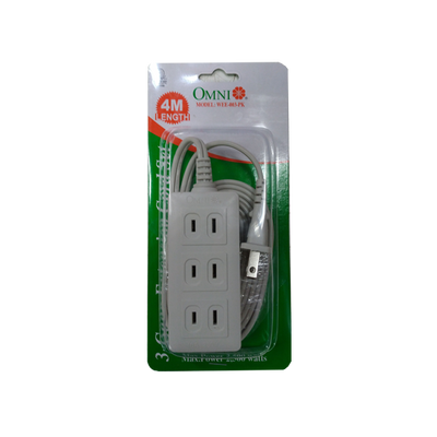 OMNI 3-GANG EXTENSION CORD SET 4M