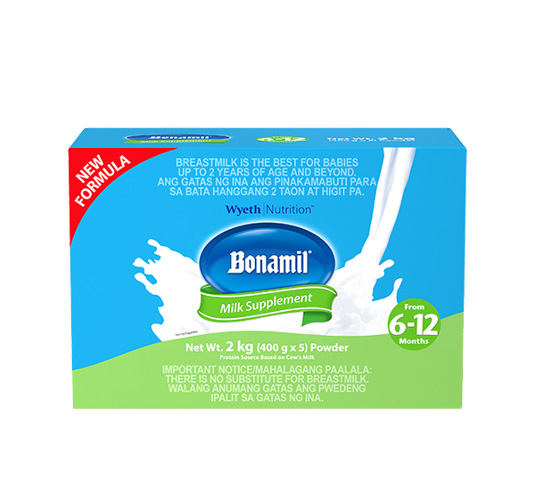 BONAMIL STAGE 2 2 KGS MILK SUPPLEMENT FOR 6 TO 12 MONTHS