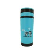 GLASS TRAVEL TUMBLER BLUE
