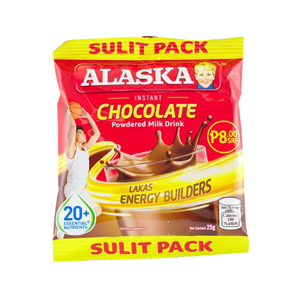 ALASKA CHOCOLATE POWDERED MILK DRINK 25G