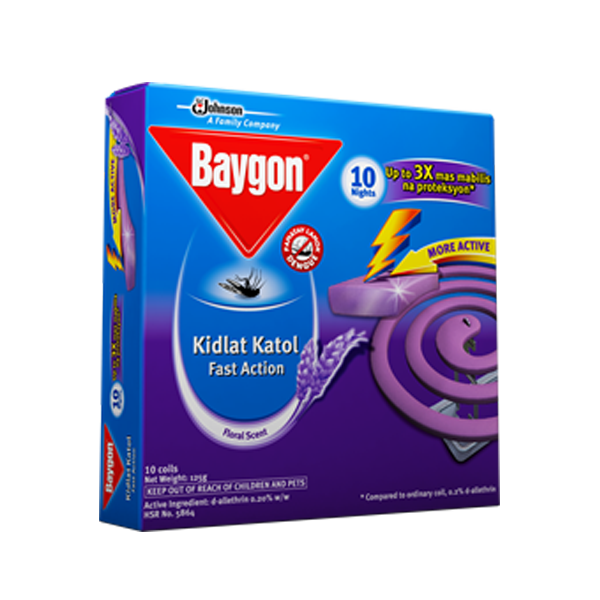 BAYGON KIDLAT SCENTED COIL 10S