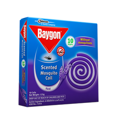 BAYGON MOSQUITO COIL FLORAL SCENT 10S