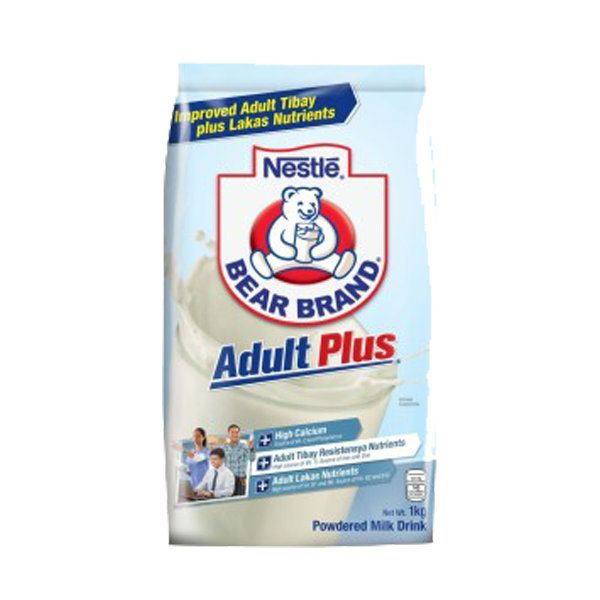 BEAR BRAND ADULT PLUS 1KG/1.1KG