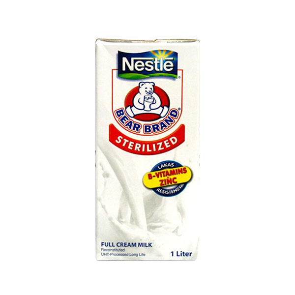 BEAR BRAND STERILIZED REGULAR FULL CREAM MILK 1L