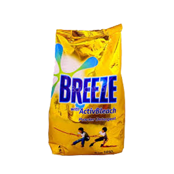 BREEZE POWDER DETERGENT ACTIVE BLEACH 1450G