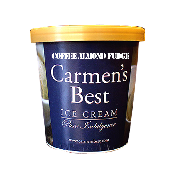 CARMEN'S BEST ICE CREAM COFFEE ALMOND FUDGE PREMIUM 16OZ