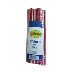 CHOICE COFFEE STIRRER RED 100G
