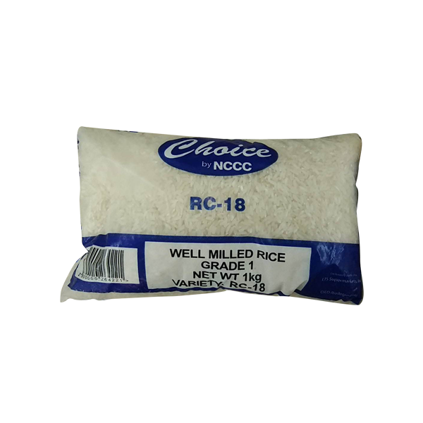 CHOICE WELL MILLED GRADE 1 RICE IR-36/RC-18 SP 1KG