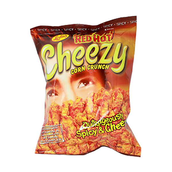 CHEEZY CORN CRUNCH RED HOT OUTRAGEOUSLY SPICY&CHEESY 70G (2.47OZ)