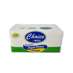 CHOICE INTERFOLDED PAPER TOWEL 175 PULLS