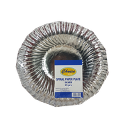 CHOICE SPIRAL PAPER PLATE SILVER 25S