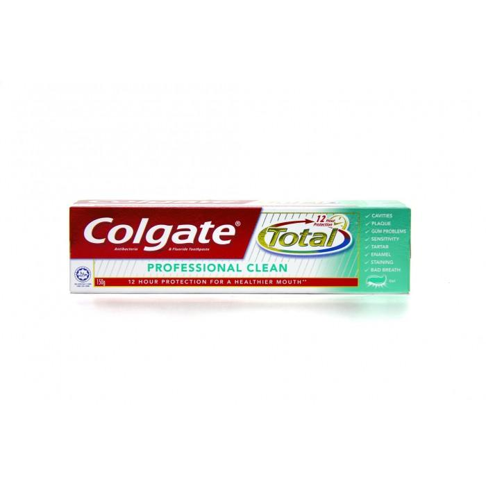 COLGATE TOOTHPASTE TOTAL 12 PROFESSIONAL CLEAN 160G