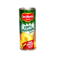 DEL MONTE FIBER-ENRICHED PINEAPPLE JUICE UNSWTND 24CL 202