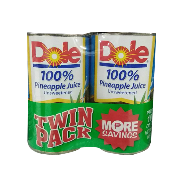 DOLE 100% PINEAPPLE JUICE VALUE PACK 1.36LX2S