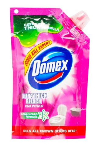 DOMEX TOILET BOWL CLEANER LIQUID PINK POUCH (PH) 150ML