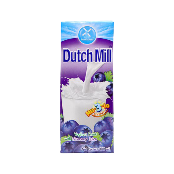 DUTCHMILL YOGHURT DRINK BLUEBERRY JUICE 180ML