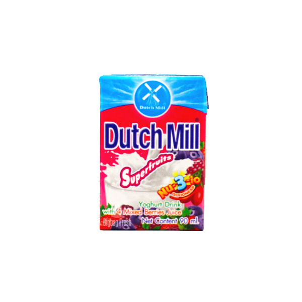 DUTCH MILL SUPERFRUITS YOGURT DRINK WITH MIXED BERRIES JUICE 90ML