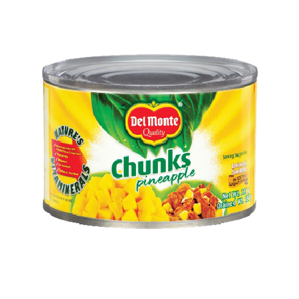 DEL MONTE PINEAPPLE CHUNKS FLAT 234G/227G
