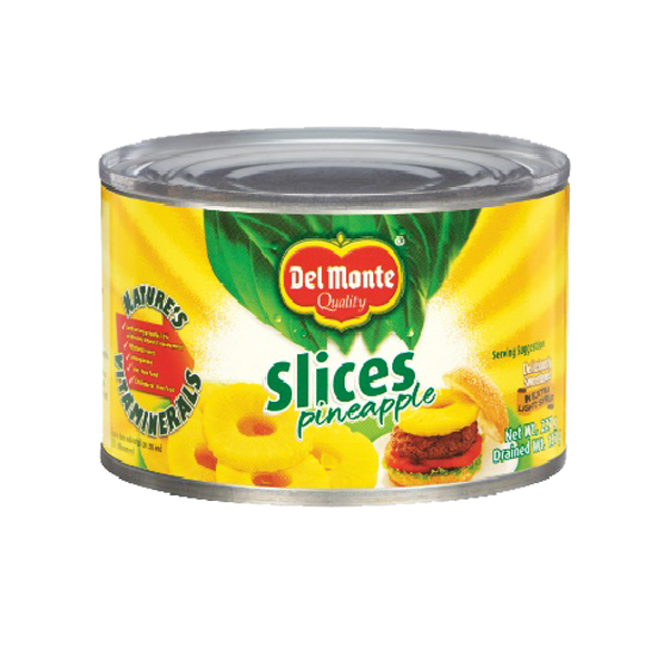 DEL MONTE PINEAPPLE SLICED FLAT 234G/227G
