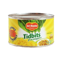DEL MONTE PINEAPPLE TIDBITS FRESH CUT 234G/227G