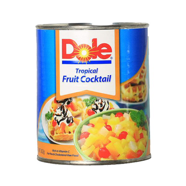 DOLE TROPICAL FRUIT COCKTAIL HEAVY SYRUP 836G/822G
