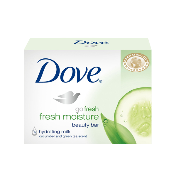 DOVE FRESH MOISTURE HYDRATING MILK CUCUMBER & GREEN TEA 100G