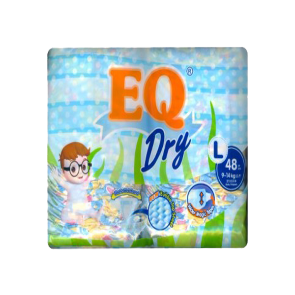 EQ DISPOSABLE BABY DIAPER DRY LARGE 48S