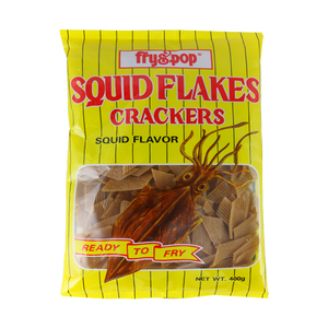 FRY&POP SQUID CRACKERS 400G
