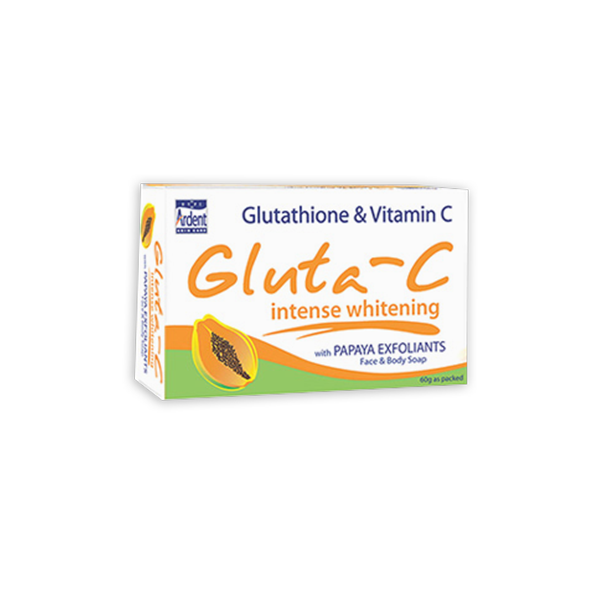 GLUTA-C INTENSE WHITENING SOAP WITH PAPAYA EXFOLIANTS 60G