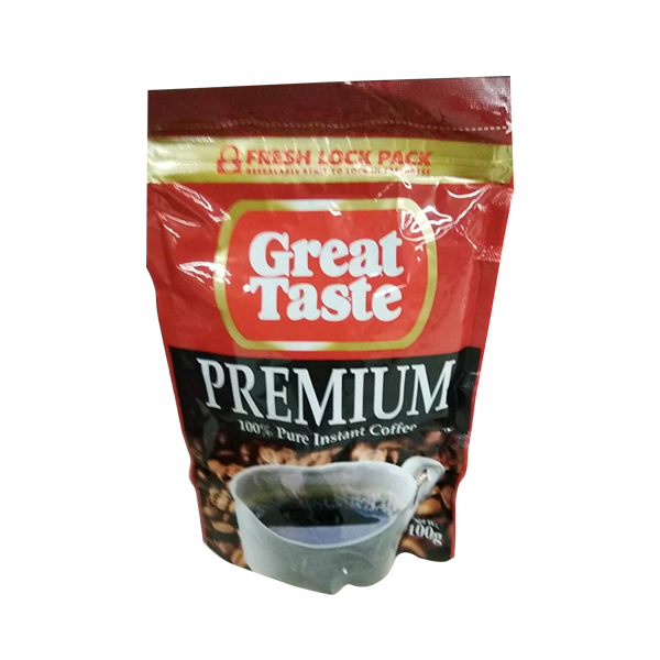 GREAT TASTE PREMIUM PURE COFFEE POUCH 100G