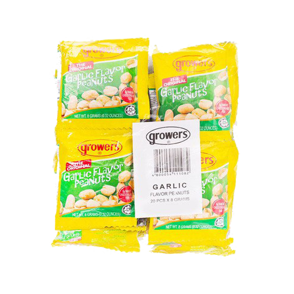 GROWERS PEANUT ORIGINAL GARLIC FLAVOR 10GX20S