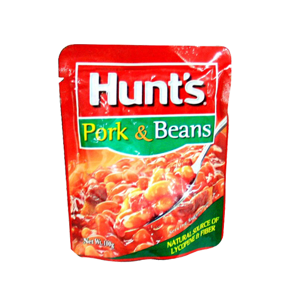 HUNTS PORK AND BEANS DOY POUCH 100G