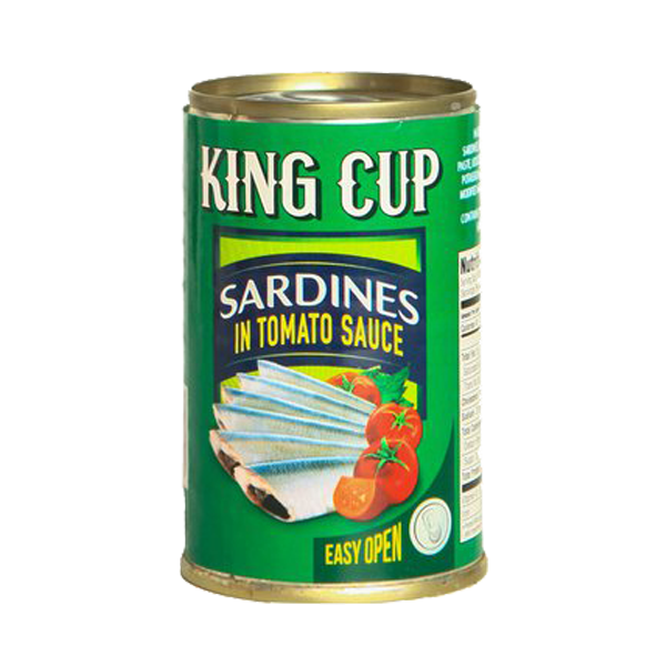 KING CUP SARDINES IN TOMATO SAUCE EASY OPEN CAN 155G