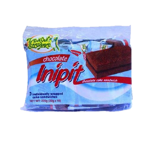 LEMON SQUARE CHOCOLATE INIPIT CHOC CAKE SANDWICH 20GX10S