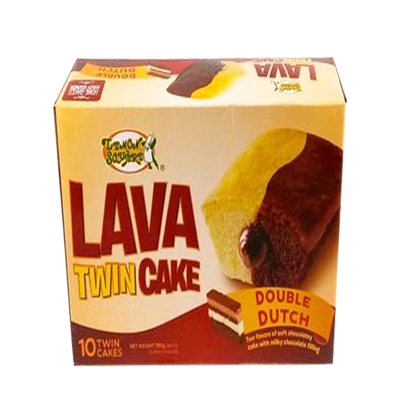 LEMON SQUARE LAVA TWIN CAKE DOUBLE DUTCH 38GX10S