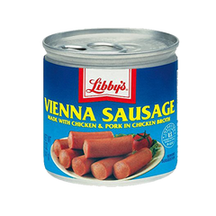 LIBBY'S VIENNA SAUSAGE MADE IN CHICKEN&PORK W/CHICKEN BROTH 4.6OZ/130G