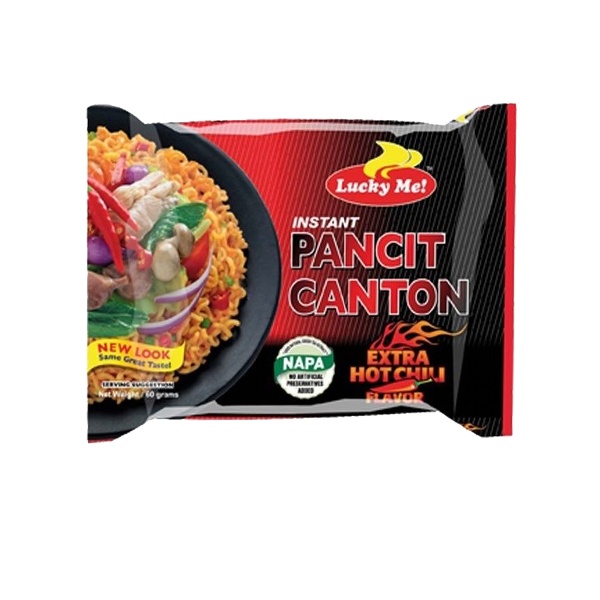 LUCKY ME PANCIT CANTON EXTRA HOT CHILI 60G