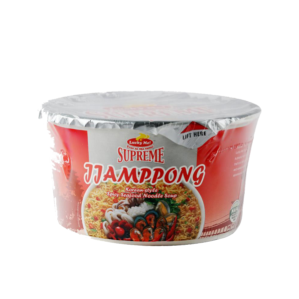 LUCKY ME SUPREME JJAMPONG WITH CRACKERS 72G/65G