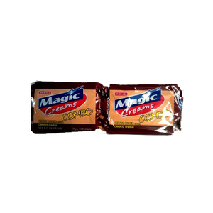MAGIC CREAMS COMBO PEANUT BUTTER & CHOCO CRACKER 30GX10S
