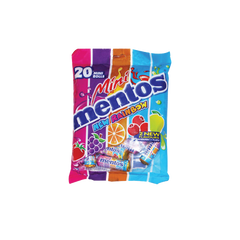 MENTOS MINI RAINBOW CHEWY CANDY 20S