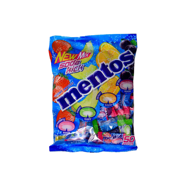 MENTOS SODA KICK CHEWY DRAGEES CANDY 50S